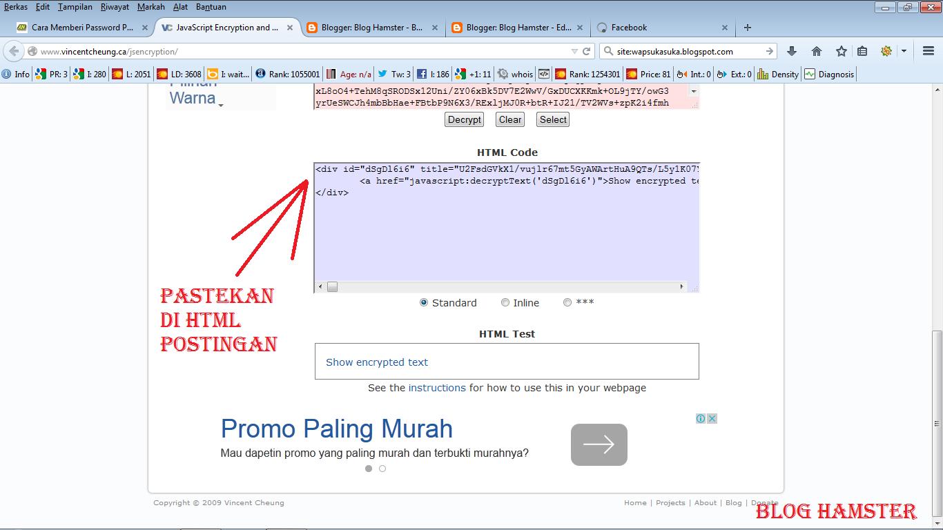 Cara Mudah Membuat Password Di Postingan Blogger