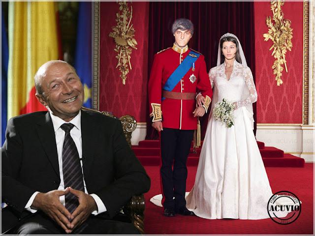 Funny photo Elena Băsescu Bogdan Ionescu Nunta