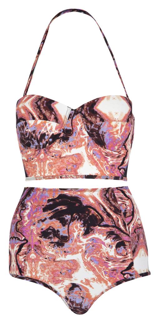 bikinis de braguita alta inspiración retro street color style