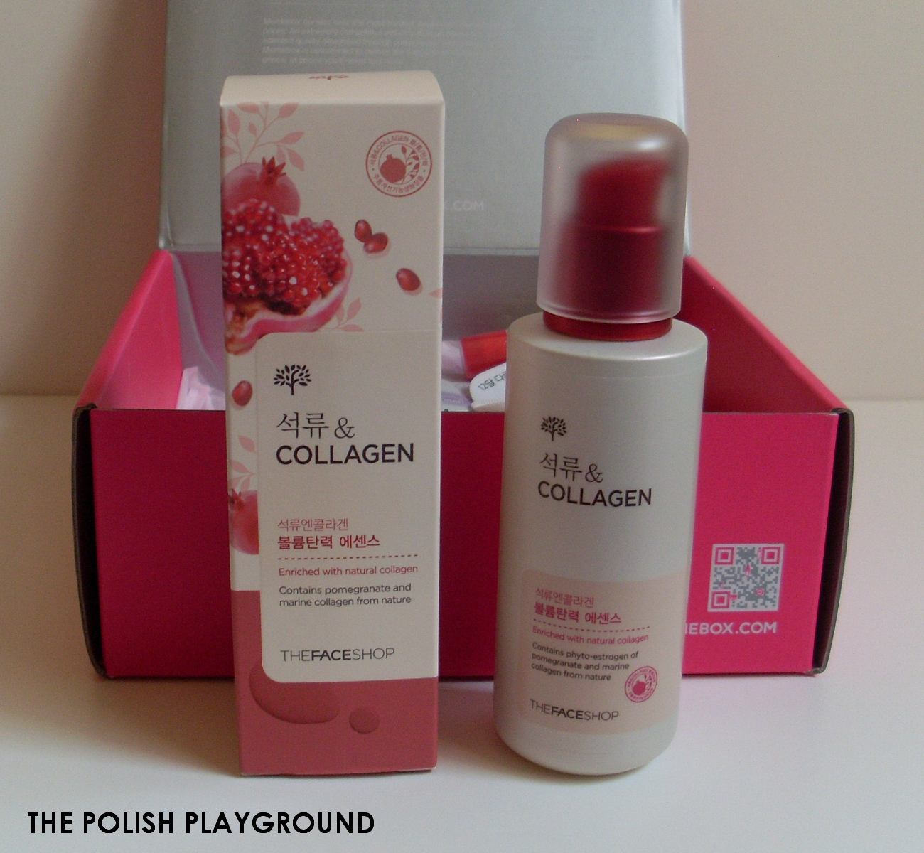Memebox Superbox #40 Pomegranate Cosmetics Unboxing - The Face Shop Pomegranate and Collagen Volume Lifting Essence