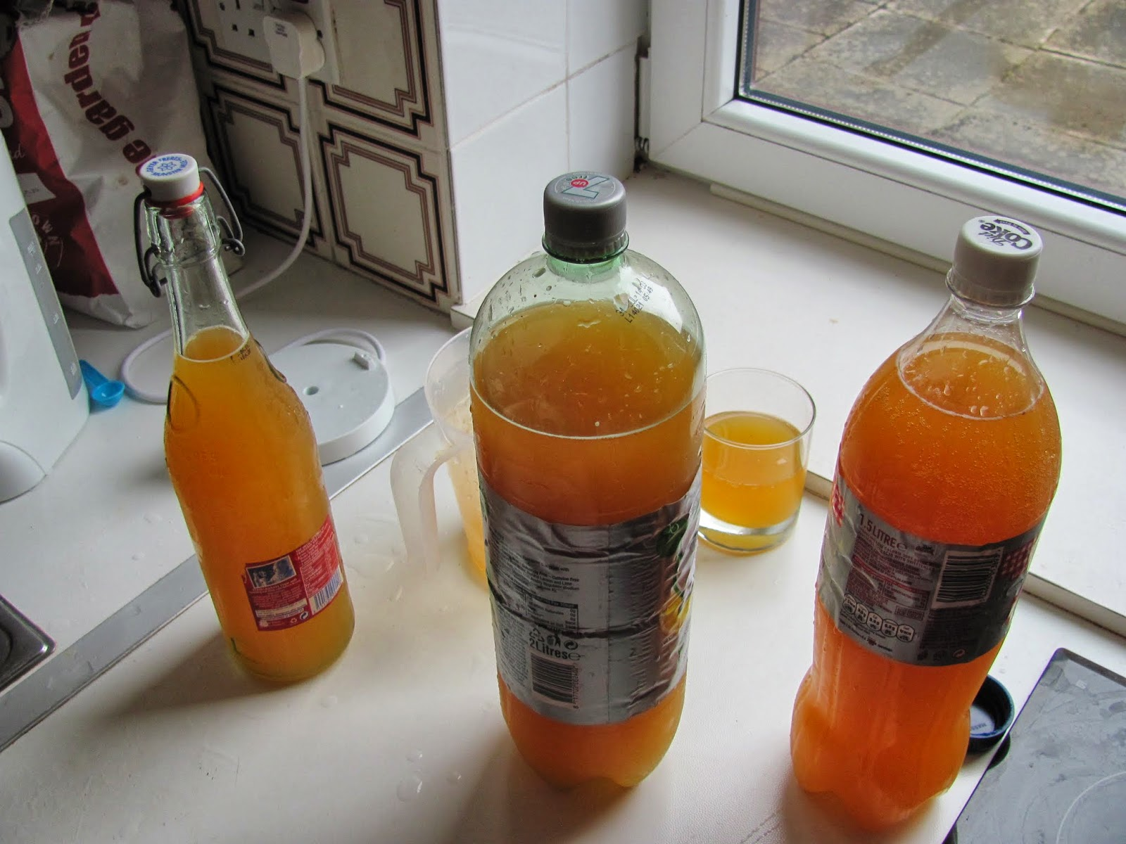 Filled Cider Bottles