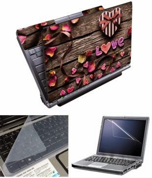 Buy Finearts Laptop Skin 15.6 Inch – Love Wooden With Screen Guard And Keyboad Protector Rs. 399 only at Snapdeal.