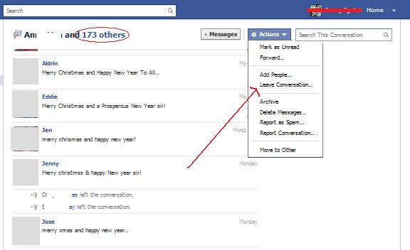How to leave a group message in facebook web wanderer ccuart Image collections