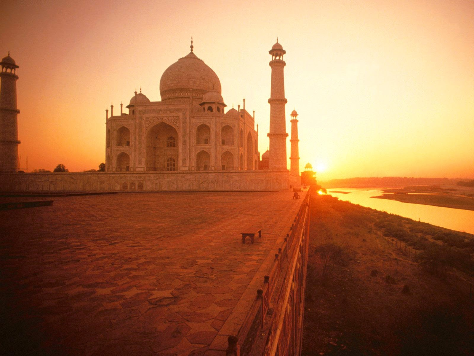 Taj Mahal in morning