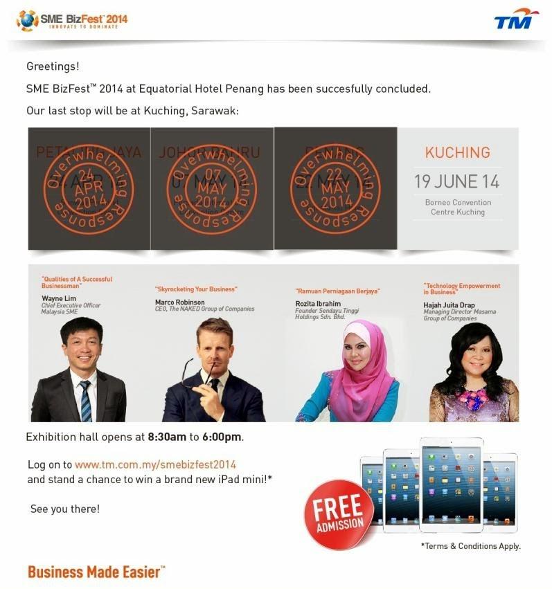 SME BizFest™ 2014 is Heading to Kuching, Sarawak!