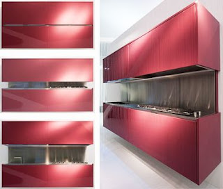 Red Kitchen Cabinet Design
