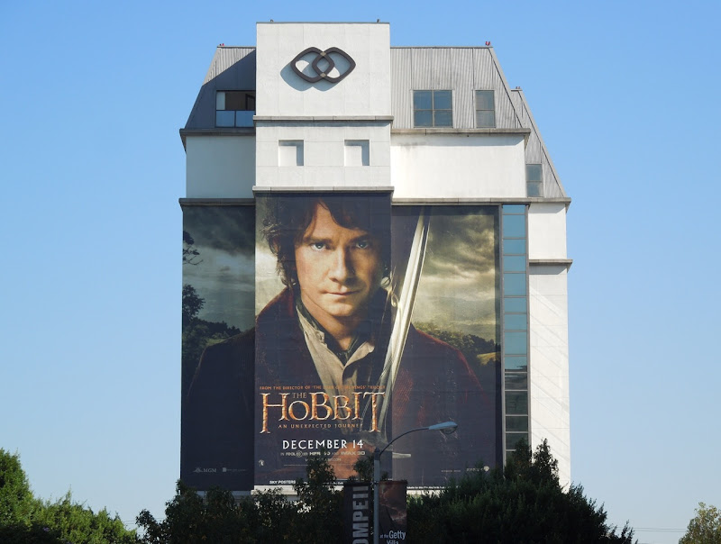 Hobbit giant movie billboard