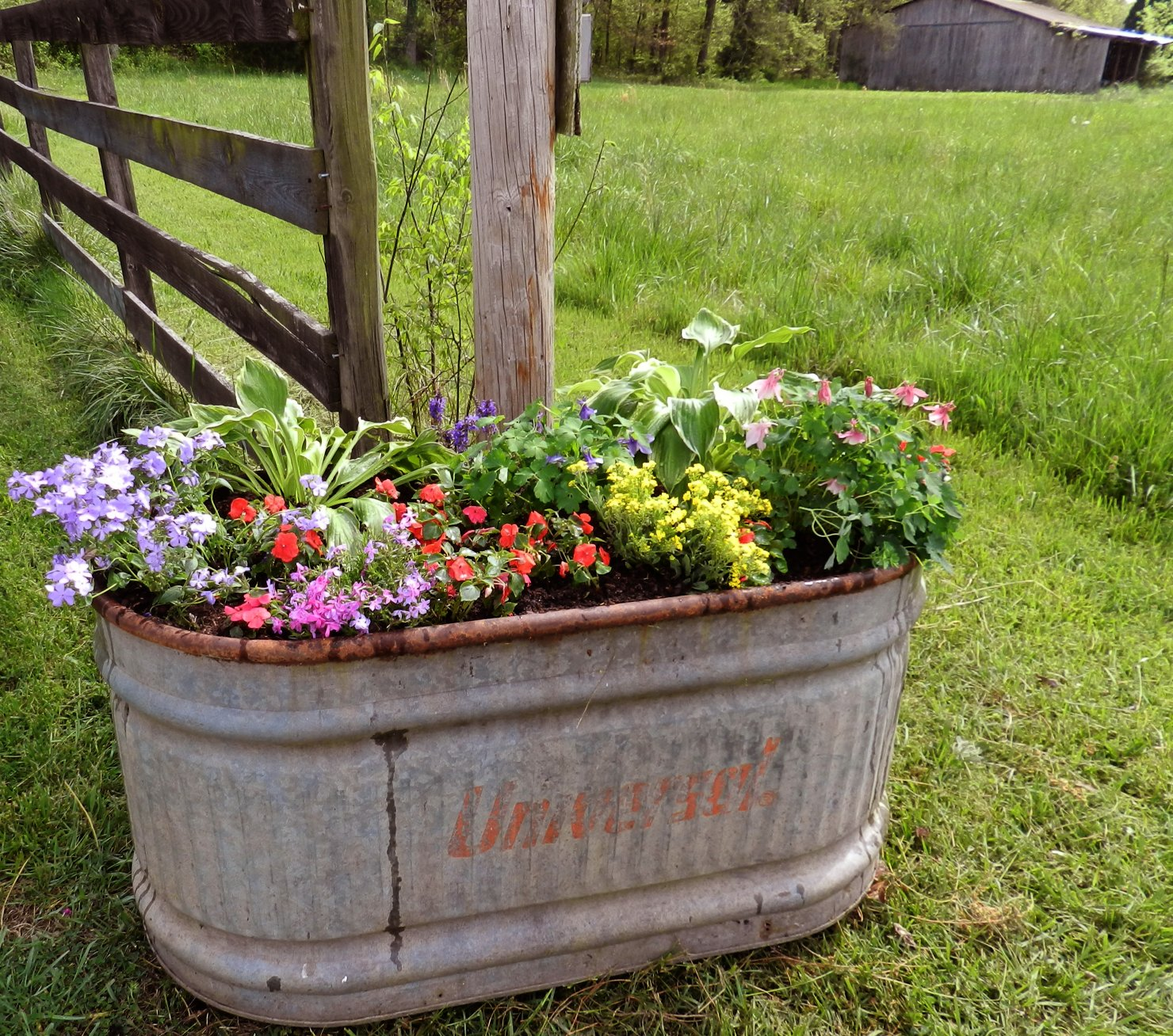 Tea 39 s hope chest recycled old water trough - Water garden containers for sale ...