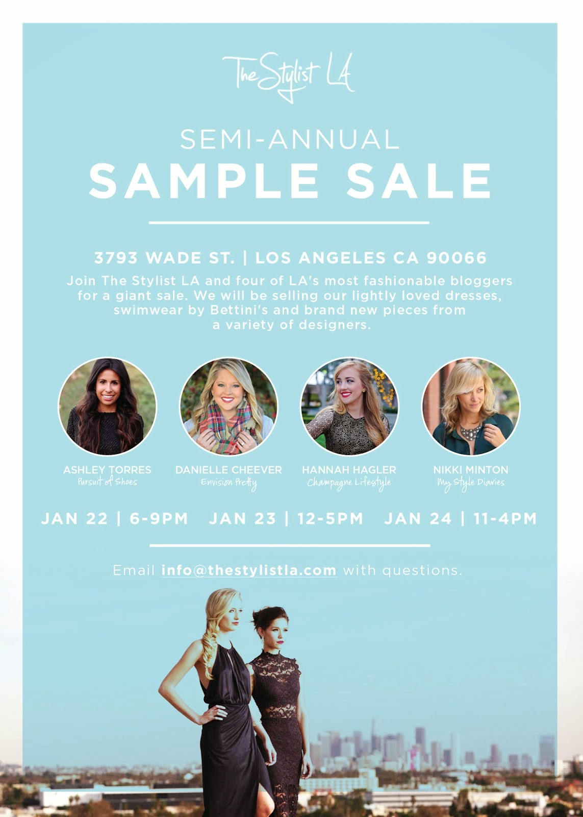 The Stylist LA Sample Sale, Blogger Closet Clean Out