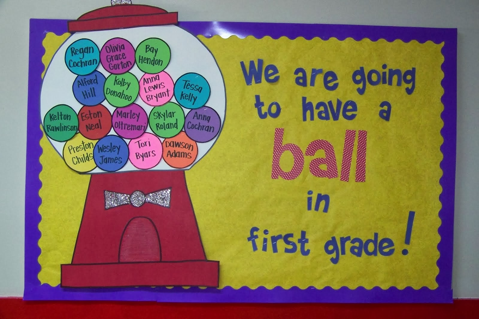 primary education board back to school bulletin board ideas