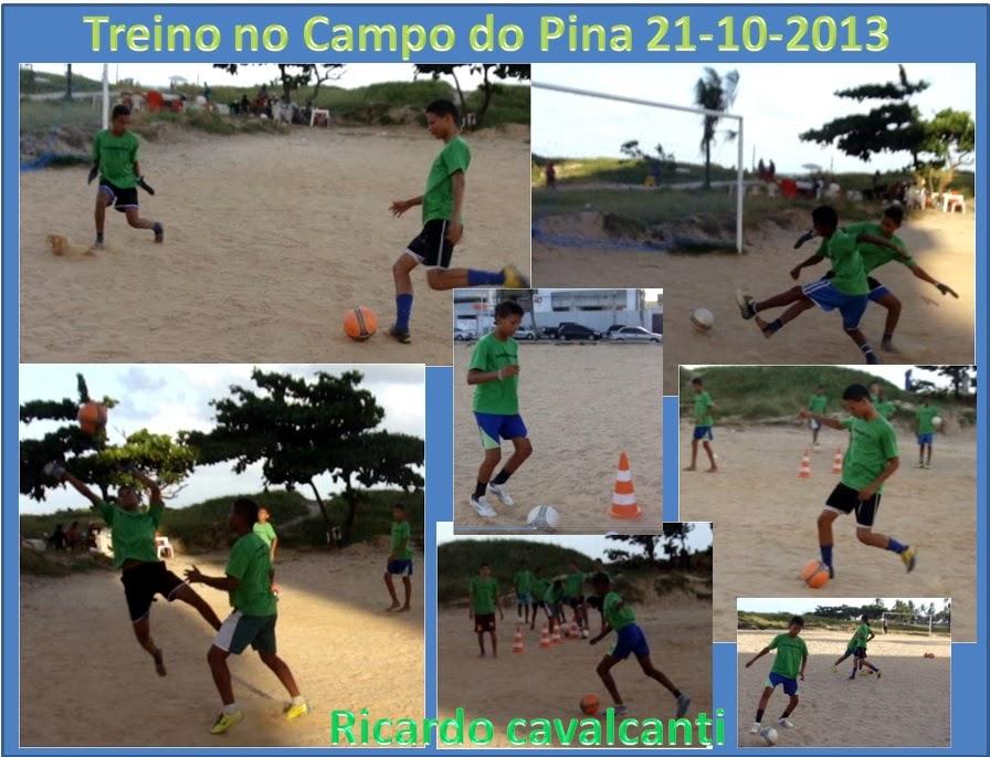 Treino no Campo do Pina dia 21 de Outubro de 2013