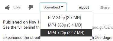 интерфейс Download YouTube Videos as MP4