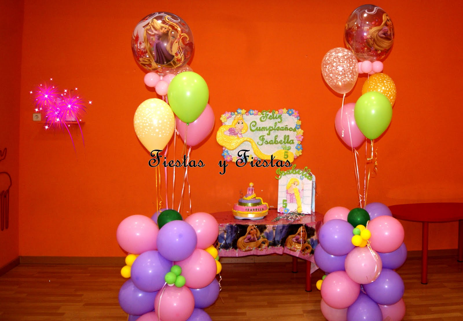Decoracion Rapunzel Fiesta ~ Decoraci?n para Fiestas en Icopor ? Poliespan RAPUNZEL