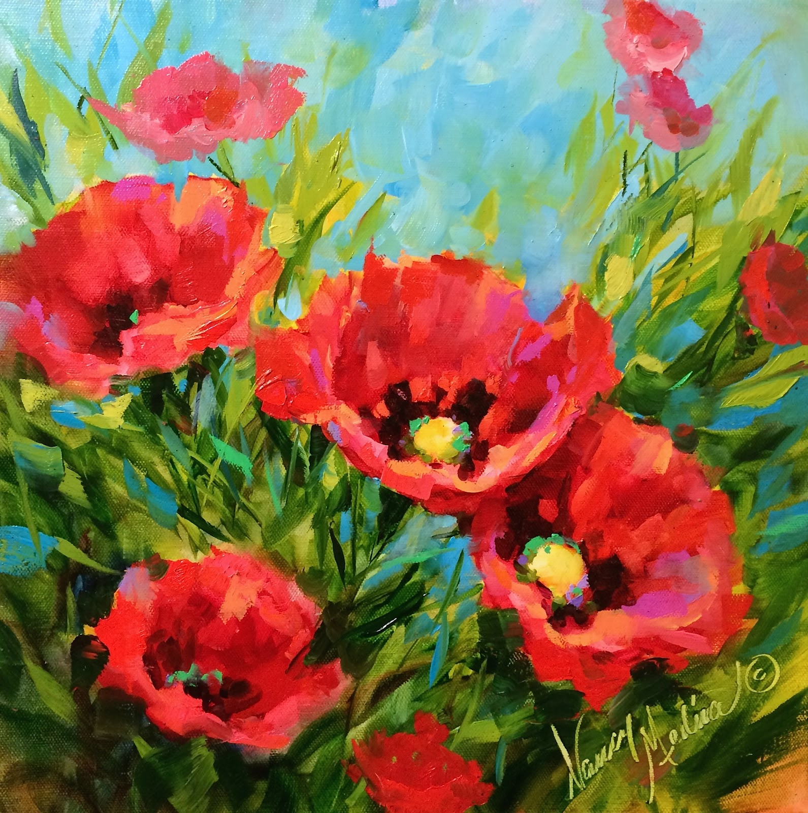 Artists of texas contemporary paintings and art a new - How to paint poppy flowers ...