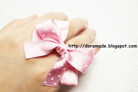 Dora 39 s handmade crafts handmade crafts handmade ribbon for Ribbon crafts to make