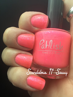 Pahlish Watermelon Punch with pink flakies