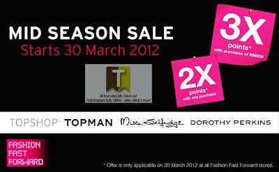 Fashion Fast Forward Topshop Topman Miss Selfridge Dorothy Perkins Mid Season Sale 2012