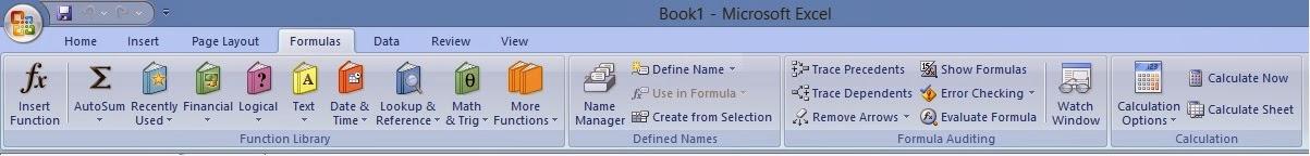 gambar menu formula dalam microsoft office excel 2007
