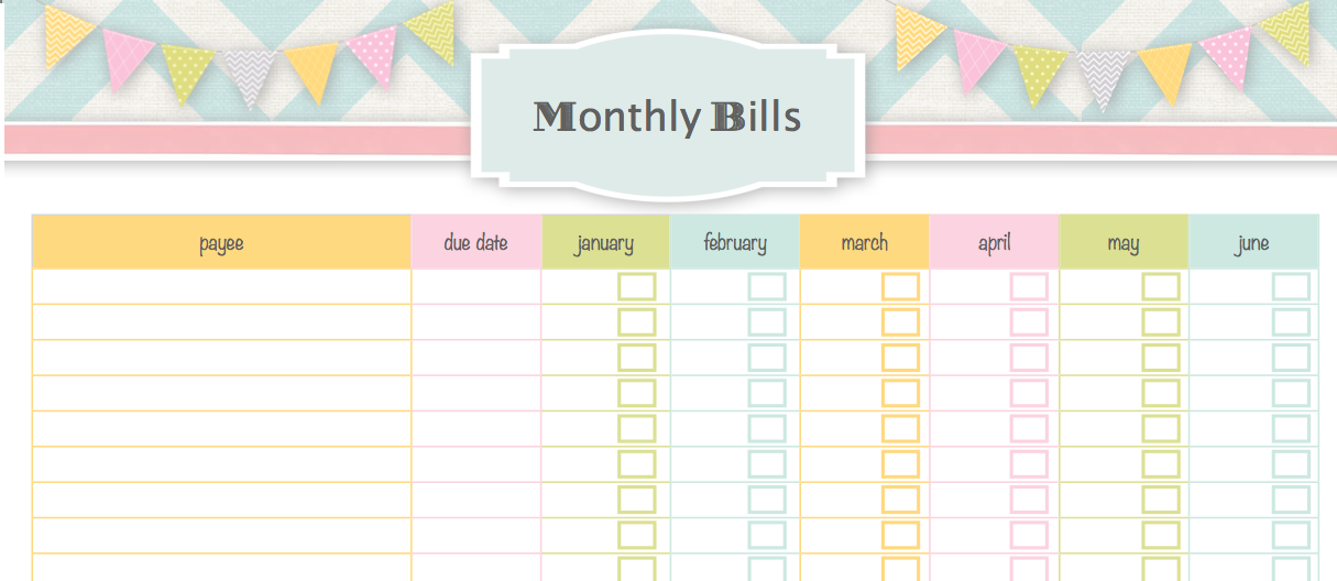 Monthly Bill Pay Schedule http://www.ourlittlecoop.com/2013/05/our ...