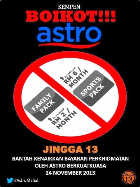 Boikot Kenaikan Astro !!!!