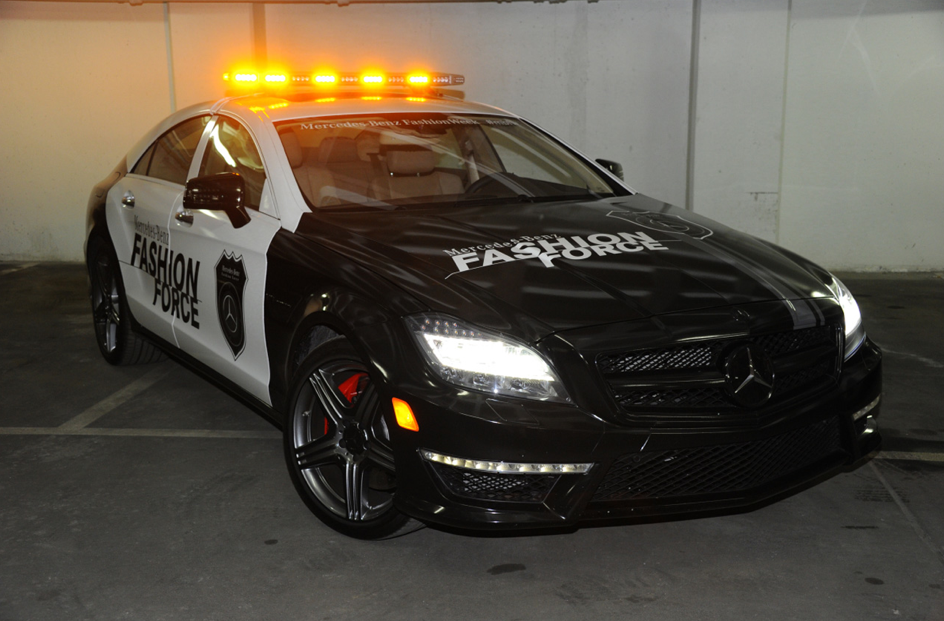 2011 mercedes benz cls63 amg fashion force on patrol in for Mercedes benz amg clothing