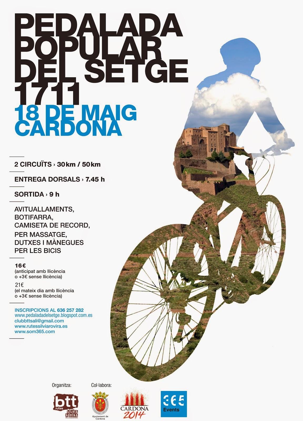Cartell pedalada del setge de Cardona