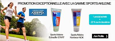 Promo gamme sport Akileine
