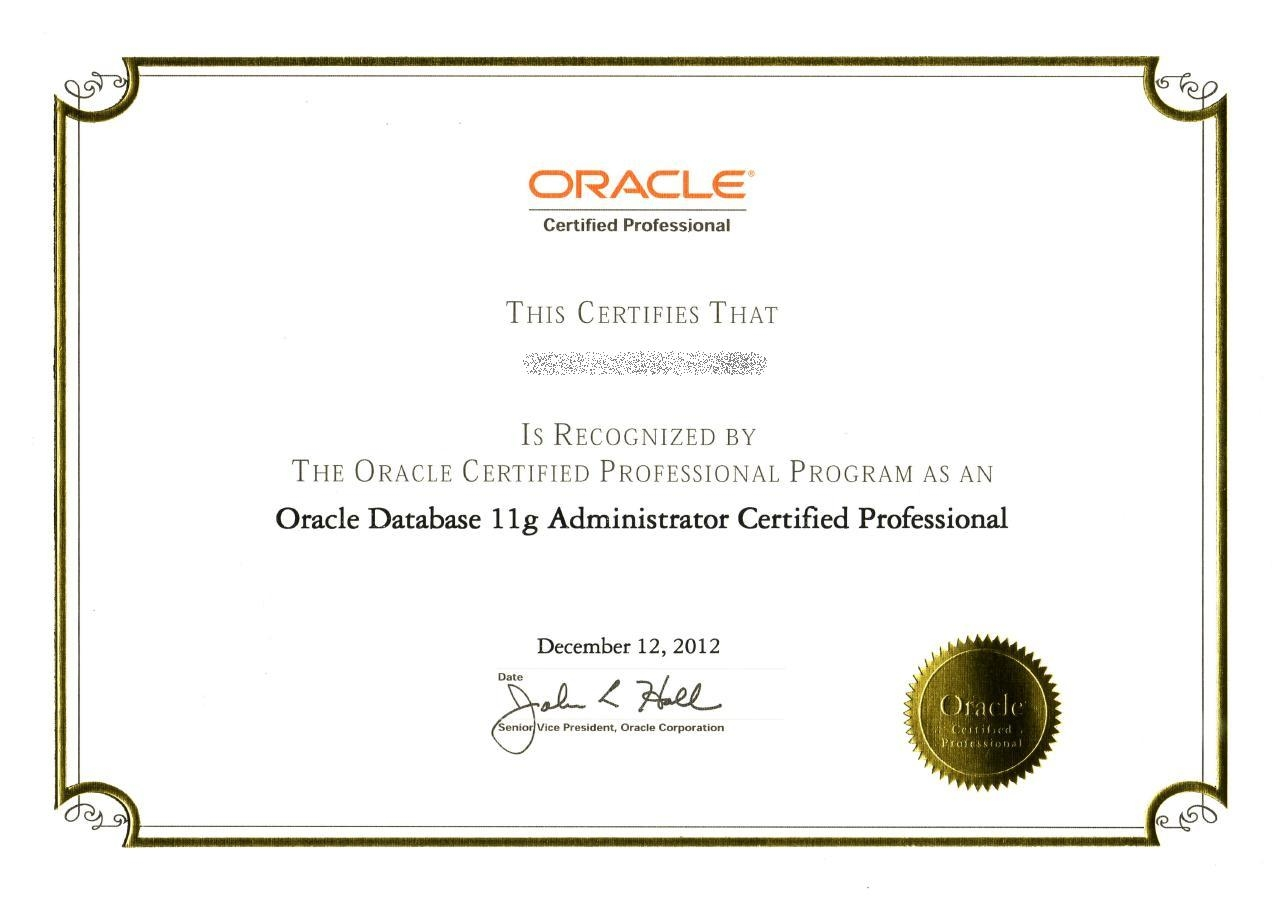 3 reasons to invest in oracle certifications view all how to do oracle database 11g administor certification xflitez Gallery