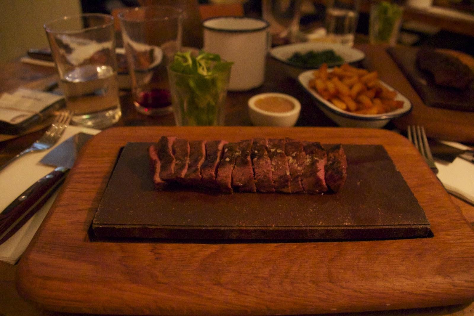 My Richard Curtis London Flat Iron Steak Beak Street