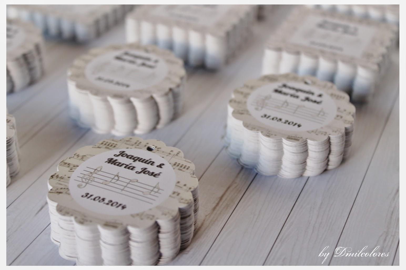 Proyecto500etiquetas entregado dmilcolores detalles originales y alfileres de novia - Detalles de boda elegantes ...