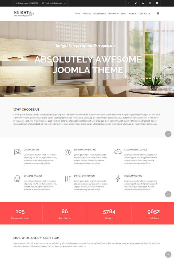 Knight - Responsive Multi-Purpose Joomla Theme