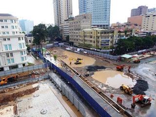 Tuyến metro 1 vẫn đang xây dựng nhưng đã có tác động lớn đến việc bán căn hộ chung cư quận 2