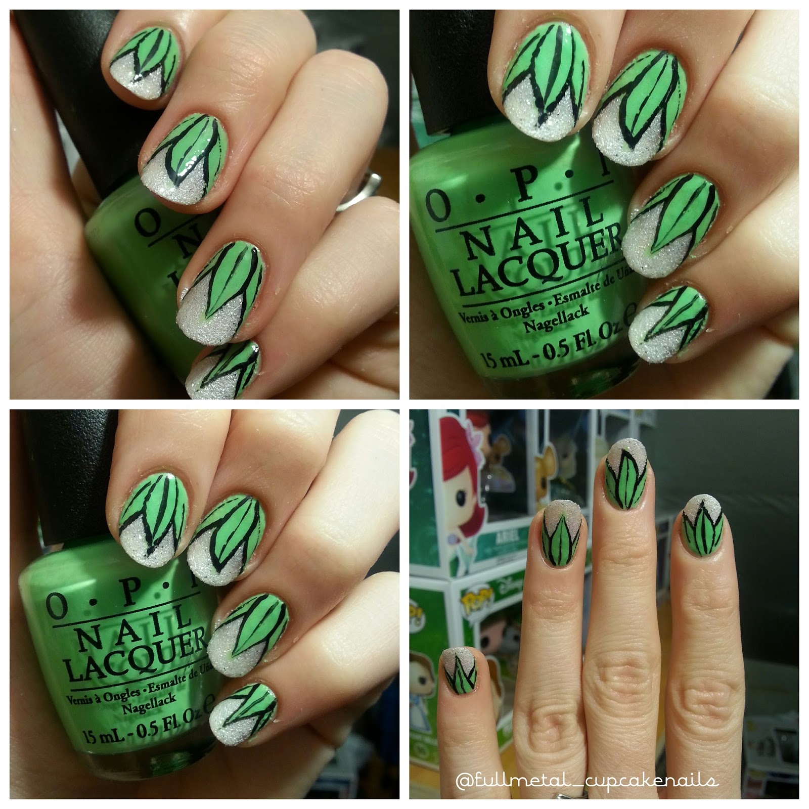Frog Nail Art: Fullmetal Cupcake: Princess And The Frog Inspired Nail Art