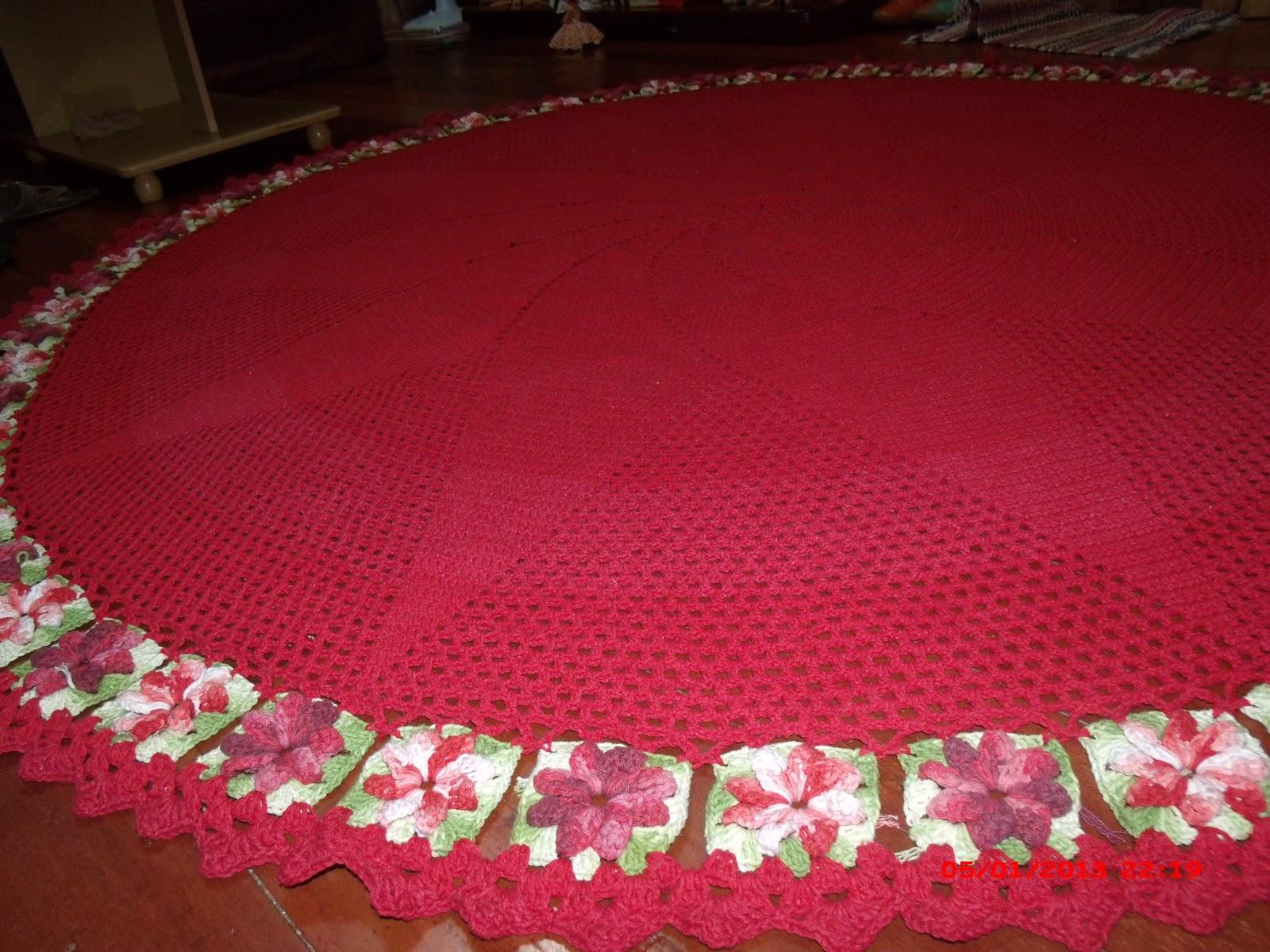 Adry Arte Tapete Redondo Para Sala  -> Tapetes De Croche Para Sala