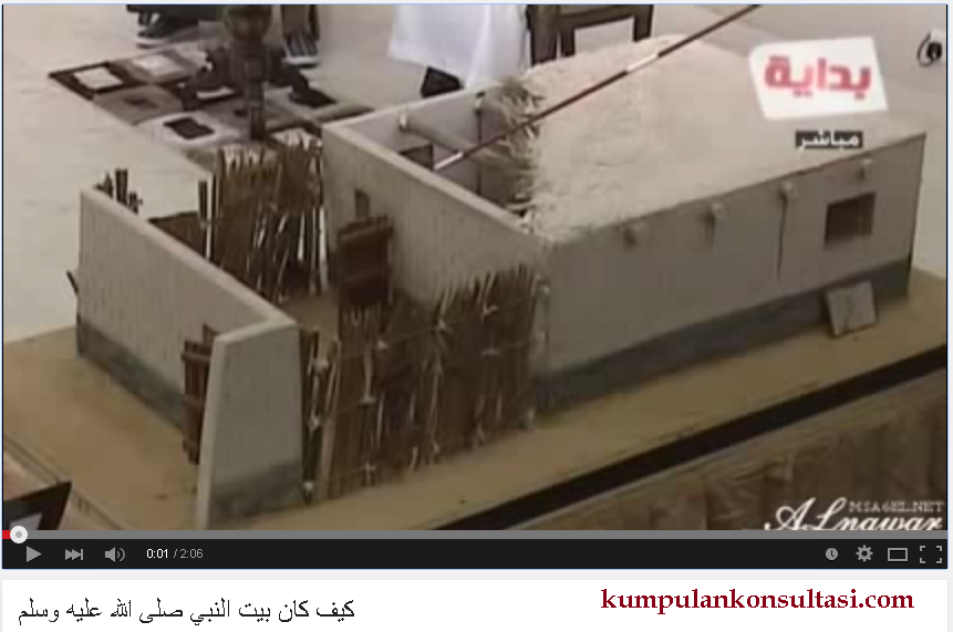 video replika rumah manusia terbaik nabi muhammad shallallahu alahi wassalam