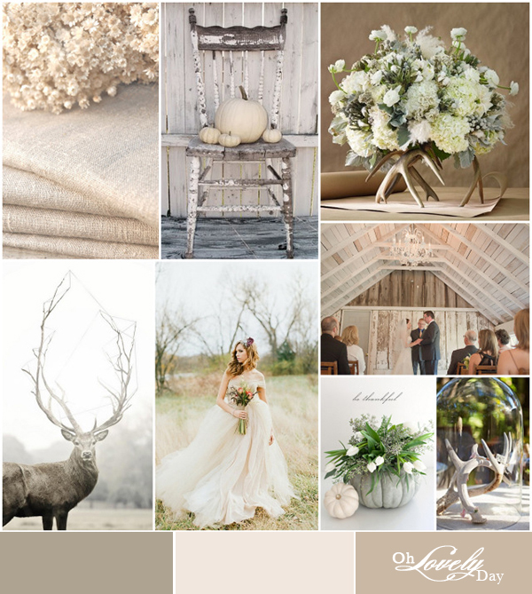 white washed autumn wedding inspiration from oh lovely day