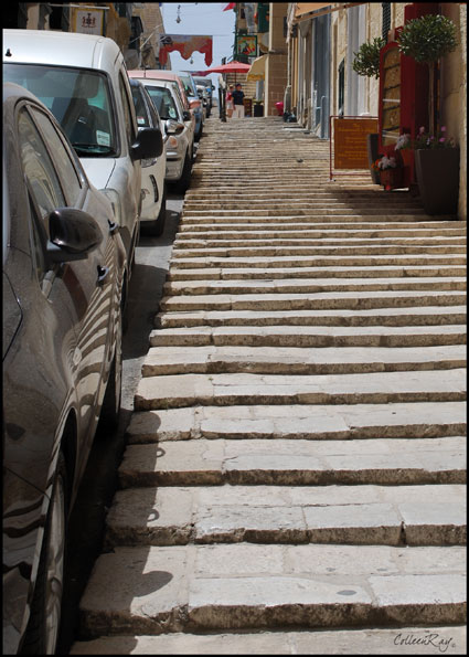 "Small 2"" stairs that armored Knights of St. John used in Valletta, Malta"