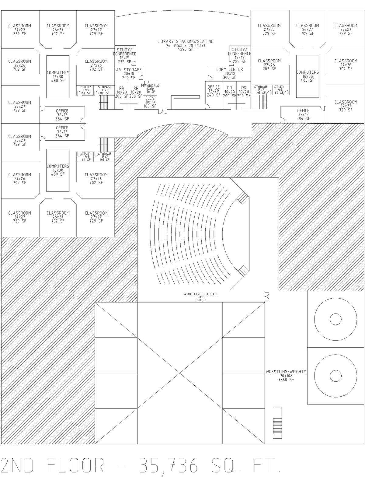 Gym Floor Locker Rooms