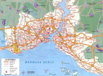 Overview of Istanbul map