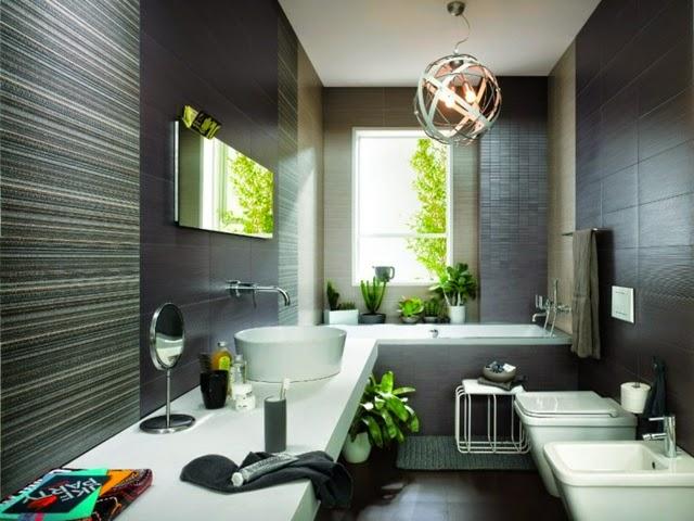 Azulejos Baño Tonos Grises:En la decoración de un baño estilo moderno los azulejos deben crear