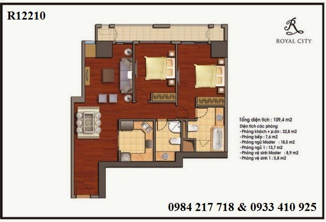 Bán căn hộ chung cư Royal City giá tốt căn R12210