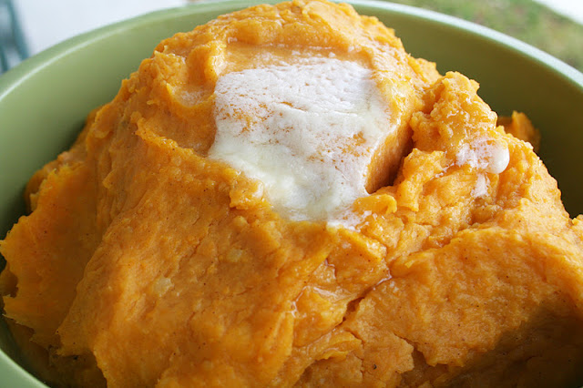 Butternut Squash and White Sweet Potato Mash