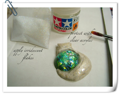 Iridescent Flakes and Protect Cat