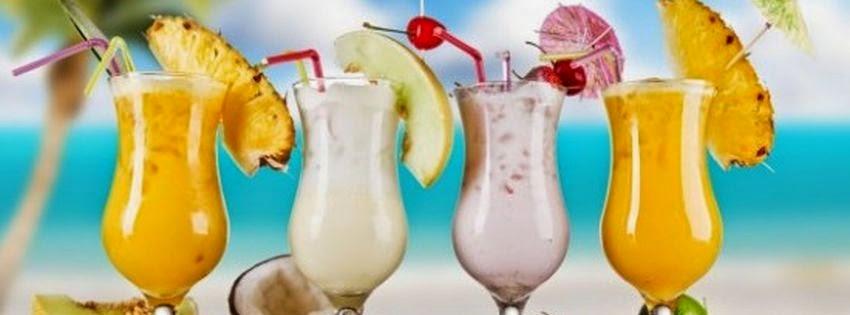 Jolie couverture facebook cocktail pour l'été