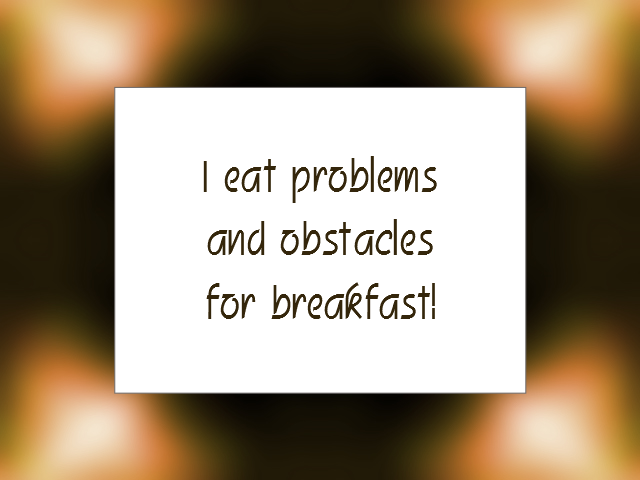 PROBLEMS affirmation