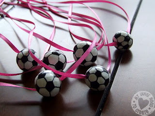 Clay Soccer Ball Necklace