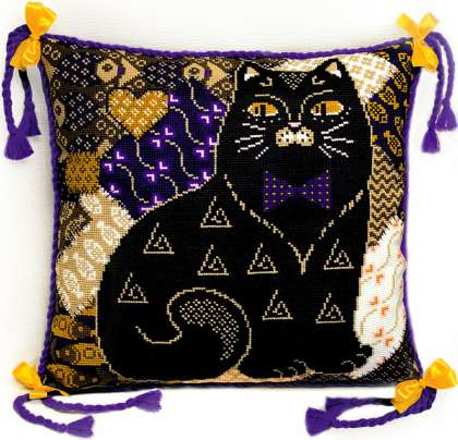 Схема подушки с кошками