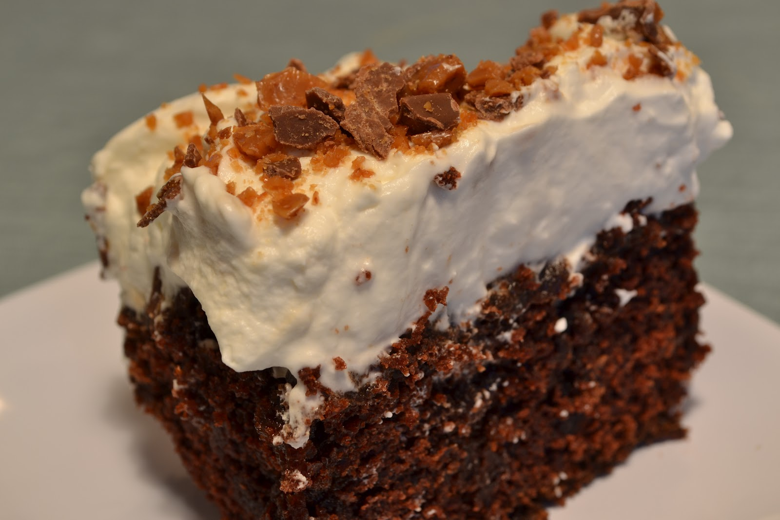 Skor Bar Chocolate Cake