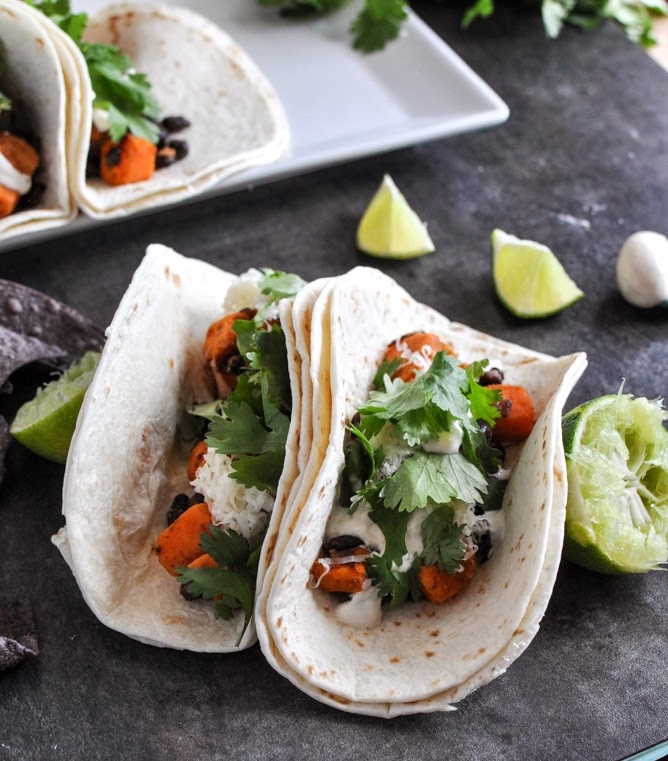 Smoky Sweet Potoato and Black Bean Tacos