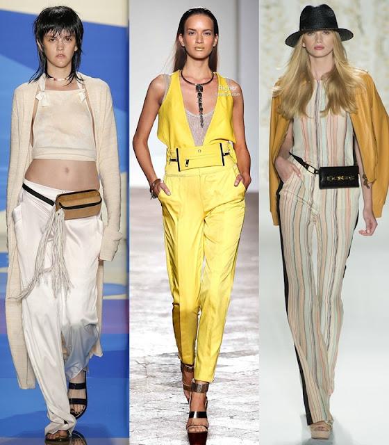 Bolsas para a cintura, belt-bags ou fanny pack tendência outono-inverno 2015-2016